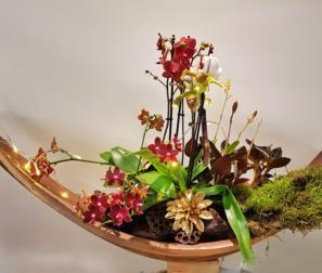 barca con fiori