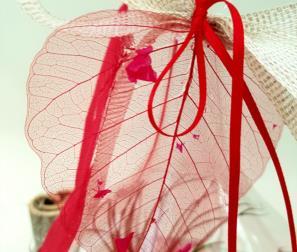 composizione rossa in vetro 2