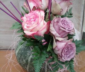 Zucca e rose viole