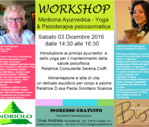 workshop ayurveda